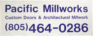 pacific_millworks in atascadero - vinyl lettering, lettering, signage